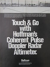 1/1973 HOFFMAN NAVCOM SYSTEMS TOUCH & GO DOPPLER RADAR ALTIMETER FLIGHT TEST AD