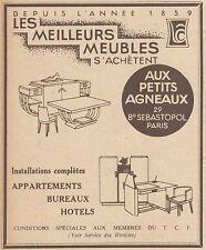 Z9265 Meubles Aux Petits Agneaux -  Pubblicità d'epoca - 1932 Old advertising