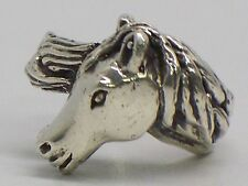 Sterling Silver Horse Head Ring Size 3