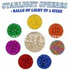 Outdoor Christmas Starlight Sphere Ball Mini Lights - 50/100/150 Light
