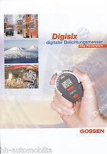 Prospekt Gossen Digisix Belichtungsmesser 6/02 brochure Broschüre Deutschland