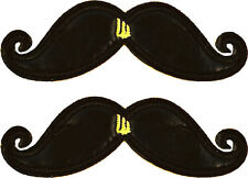 SHWINGS Black Foil Mustache clip on Wings for shoes designer NEW 70106