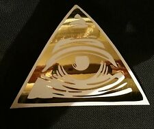 illuminati all seeing eye of Providence Gold Chrome vinyl decal bumper sticker