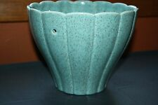 Red Wing Vintage Large 7 1/4in Turquoise Signed M-1610 Art Deco Planter