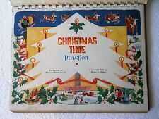 Antique vintage 1949 Christmas Time in Action CHILDREN'S POP-UP BOOK vintage OOP