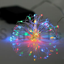 RGB+Warm White 5M 50LEDs Copper Wire String Fairy Light With Timer ON/OFF Remote