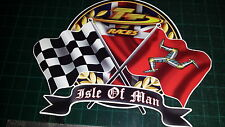 ISLE OF MAN TT Races Decal Sticker MANX Moto GP Racing laptop, helmet, bike, car