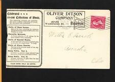 O Ditson Music Publisher Ovate Boston Flag Cancel 1897 #3 Both Sides & Bill z61