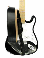 """Genuine Leather Strap for Electric Acoustic Bass Guitar Black 2.7"""""""