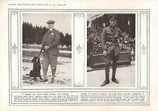 1915 WWI PRINT ~ WELSH GUARDS COLONEL LORD HARLECH ~ LATE SUB-LIEUT WARNEFORD VC