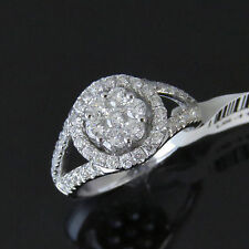 NYJEWEL 14k W Gold Brand New Awesome 2ct Diamond Halo Engagement Ring $4799