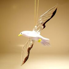 "Blown Glass Figurine ""Murano"" Art Hanging Bird SEAGULL Albatross Ornament"