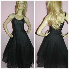 80s does 50s BLACK LACE SWING PROM PARTY DRESS 10 S 1980s PIN UP ROCKABILLY