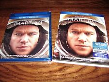 The Martian: Matt Damon (Blu-ray/Digital Copy 2016 ) New;Sealed + I Ship Faster