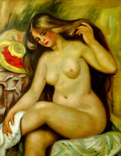 "Auguste_Renoir  Replica Abstract Oil Painting - Bather - size 28""x36"""