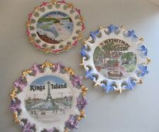 3 VINTAGE SOUVENIR COLLECTOR PLATES ~ Niagra Falls Hershey Park King's Island