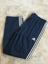 New Adidas Big and Tall Logo Track Running Pants 3XT 3XLT Navy White