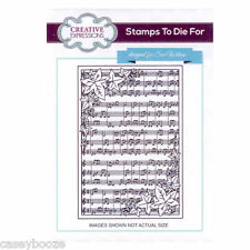 Stamps To Die For - Sue Wilson - Florentine Background -Christmas Music - UMS637