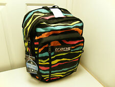 NEW JANSPORT Trans MegaHertz Backpack BLACK MULTI 80S ZEBRA T30B1N7 lot 7