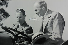"""12 By 18"""" Black & White Picture Henry Ford with """"N"""" Tractor"""