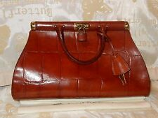 VINTAGE MULBERRY GLOSSY CONGO LIGHT TAN LEATHER GLADSTONE BAG