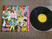 """CUENTOS INFANTILES CAPERUCITA ROJA PULGARCITO LP VINYL VINILO 12"""" 1968 PALOBAL"""