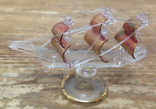 Blown Glass Ship Sloop Cutter Miniature Darling Delicate Sail Boat Pirate XX