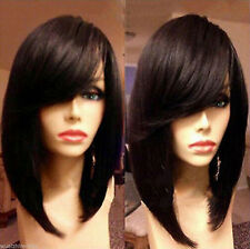Fashion wig new style women's short straight black bob healthy hair party wigs04
