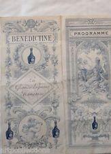 1925 PUBLICITE ANCIENNE BENEDICTINE LIQUEUR THEATRE MME MARECHALE SANS GENE