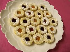 2 Lb LINZER TART COOKIES FILLED W/FRUIT PRESERVE,HUNGARIAN/EUROPIAN,HOME MADE
