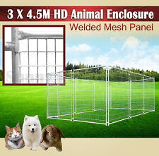 3x4.5M Heavy Duty Animal Enclosure Fencing Barrier Dog Space Kennel Outdoor BNE