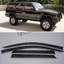 For Jeep Cherokee 1984-2001 Window Side Visors Sun Rain Guard Vent Deflectors