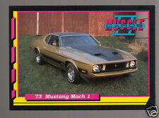 1973 FORD MUSTANG MACH 1 COBRA JET Q-CODE V8 Muscle Car Photo 1992 TRADING CARD