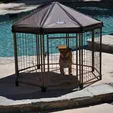 Outdoor Dog Kennels Puppy Small Portable Pet Crates Gazebo Chain Link Cage Roof