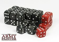 Army Painter Wargaming Dice: Black w. Red | Würfel (36) W6 14mm
