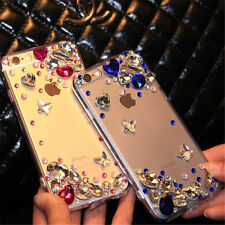 Glitter Luxury Crystal Bling butterfly Diamonds Soft TPU Silicone Case Cover AB2