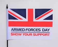 Armed Forces Day Medium Hand Waving Flag