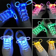 LED Shoelaces Flash Light UP New Disco Party Glow Stick Strap Eye-catching Green