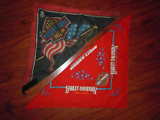 Lot of 2 Harley Davidson bandana Scarf 2 sided Leather reversible
