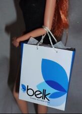 * ACCESSORY ~ BARBIE DOLL SOUTHERN BELK BLUE PAPER SHOPPING BAG FOR DIORAMA