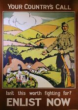 WW1 RECRUITING POSTER  - Enlistment Poster A4 Print