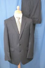 42 LONG W40 L32 CHARLES TYRWHITT SINGLE BREASTED NAVY PIN SUIT WORKING CUFFS