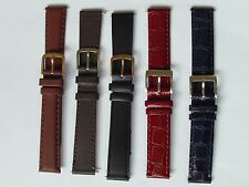 5 x 16MM GENUINE LEATHER APOLLO WATCH BANDS STRAPS JOB LOT WHOLESALE NEW BARGAIN