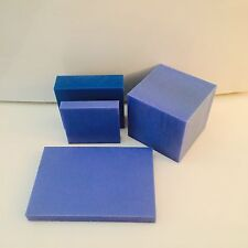 "1"" Blue Cast Nylon MC901 Plastic Sheet - Priced / Square Foot- Cut to Size!"
