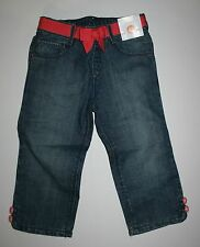 New Gymboree Buttons & Bows Denim Blue Jeans Cropped 5T NWT Chevrons & Dots