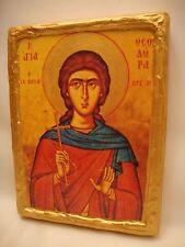 Saint Theodora Christian Religious Greek Eastern Orthodox Wooden Plaque Icon