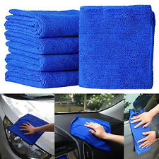 5Pcs Soft Absorbent Wash Cloth Car Care Micro Fiber Cleaning Drying Towel New