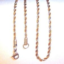 "Snap It Stainless Steel Two Tone 18"" Rope Chain For Snap It Pendants"