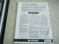 SUZUKI RF600RP GENUINE SET UP MANUAL