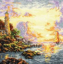 THE SEA OF TRANQUILITY ANCHOR MAIA X STITCH KIT (5678-1064) LIGHTHOUSE, WATER